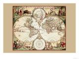 Nova Orbis Tabula Posters by A. F. Dewit
