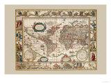 Nova Totius Terrarum Orbis Art by Joan Blaeu