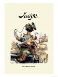 Judge: The Greedy Nurse Print by Bernhard Gillam