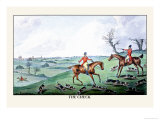Fox Hunters and Hounds in an Open Field Poster by Henry Thomas Alken