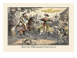 Henry the VIII Meeting Francis the First Posters by John Leech