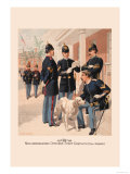 Non-Commissioned Officers, Staff Corps in Full Dress Poster by H.a. Ogden