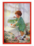 The Goldfish Poster by Jessie Willcox-Smith