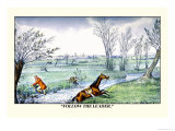 Horse and Rider Climb Out of the Stream on Different Sides Print by Henry Thomas Alken