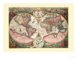 Orbis Terrarum Typus Affiche par Jan Baptist Vrients