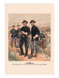 Brigadier General, Line Officers, Enlisted Men in Campaign Dress Print by H.a. Ogden