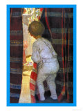 Peeping Into the Parlor Print by Jessie Willcox-Smith