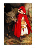 Le petit chaperon rouge Affiches par Jessie Willcox-Smith
