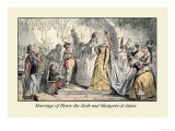 Marriage of Henry the Sixth and Margaret of Anjou Posters by John Leech