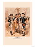 Infantry, Continental Army Prints by H.a. Ogden