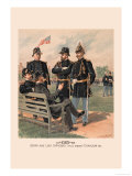Staff and Line Officers in Full Dress and Chaplain Prints by H.a. Ogden