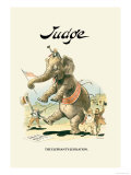 Judge: The Elephant's Jubilation Poster by Grant Hamilton