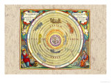 The Ptolemaic Understanding of the Universe Poster by Andreas Cellarius