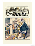 Judge: Walking Moneybag Posters by Grant Hamilton