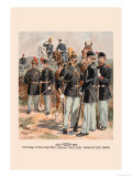 Officers and Enlisted Men, Cavalry, Artillery, Infantry in Full Dress Prints by H.a. Ogden