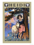 Heidi (couverture) Poster par Jessie Willcox-Smith