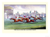 The Race for the Welter Stakes Poster by Henry Thomas Alken