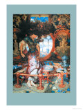 The Lady of Shalott Premium Giclee Print by William Holman Hunt
