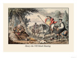 Henry VIII Monk Hunting Prints by John Leech