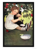 I Love Little Pussy Affiches par Jessie Willcox-Smith