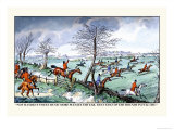 Hunters Race After the Hounds in Full Cry Posters by Henry Thomas Alken