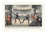 The Battle of Bosworth Field, A Scene in the Great Drama of History Print by John Leech