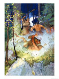 The Fight in the Forest Posters by Newell Convers Wyeth