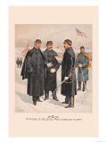 Officers and Enlisted Men in Overcoats and Capes Prints by H.a. Ogden