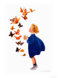 The Butterflies Prints by Jessie Willcox-Smith