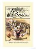 Puck Magazine: Jester Premium Giclee Print by John R. Neill