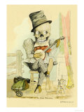 Death Picks a Tune Premium Giclee Print by F. Frusius M.d.