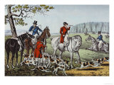 Fox Hunt Prints by  Currier & Ives