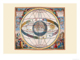 Scenographia Systematis Mundani Ptolemaici Poster by Andreas Cellarius