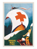 Red Cross Annual Roll Call Print by E. Seaver