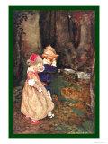 Petits enfants dans les bois Affiche par Jessie Willcox-Smith
