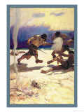 Cannibals Print by Newell Convers Wyeth