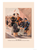 Engineer, Footrifles, Dragoon, Light Artillery and Infantry Print by H.a. Ogden