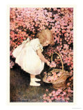 Cueillette de fleurs des champs de Betty Reproduction giclée Premium par Jessie Willcox-Smith