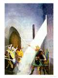 Wallace Draws the King's Sword Plakater af Newell Convers Wyeth