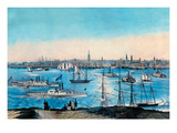 New York Harbor View Prints by Nathaniel Currier