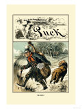 Puck Magazine: Blind!! Prints by John R. Neill