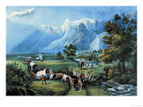 Rocky Mountains Posters by  Currier & Ives