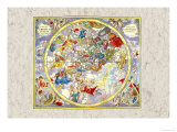 Celestial Sky Chart Posters by Andreas Cellarius