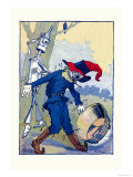 The Tin Man and Scarecrow Premium Giclee Print by John R. Neill