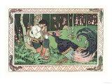 Chiu: Pavo real Láminas por Ivan Bilibin