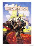 King Arthur Premium Giclee Print by Newell Convers Wyeth