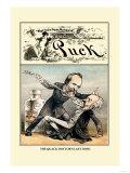 Puck Magazine: The Quack Doctor's Last Dose Print