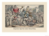 Tarquinius Superbus Makes Himself King Premium Giclee Print by John Leech