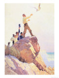 The Courier of the Air Plakat af Newell Convers Wyeth