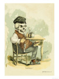Death Tips a Pint Premium Giclee Print by F. Frusius M.d.